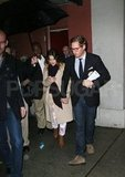 Drew Barrymore amd fiancé Will Kopelman left the NYC studio of The Colbert Report.