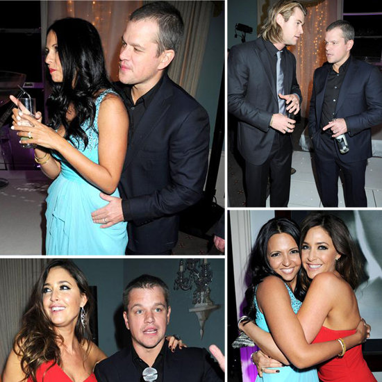 Matt and Luciana Damon Get Close Inside Lisa Snowdon's Birthday Bash