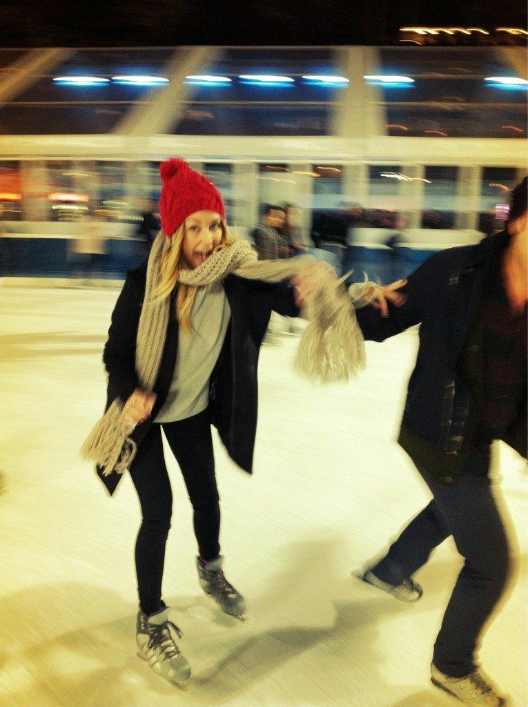 Lauren Conrad hit the ice with friends. Source: Twitter user laurenconrad
