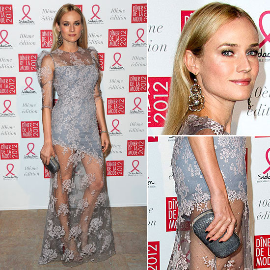 Diane Kruger Lights Up the Sidaction Gala in Lacy Erdem — See Every Gorgeous Angle