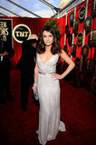 We loved Glee stunner Lea Michele's sequinned white, Oscar de la Renta sheath last year.