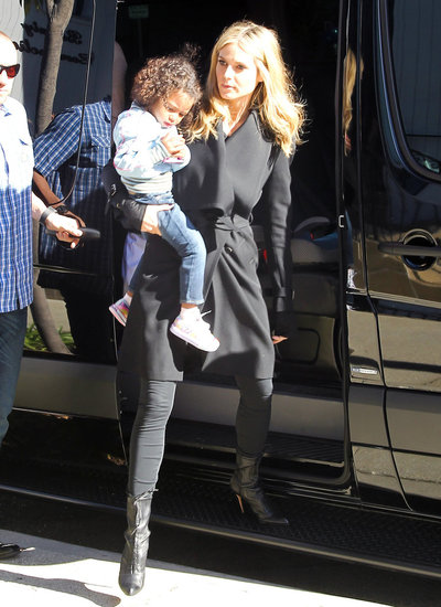 Heidi Klum Steps Out Solo to Take Her Kids to Karate