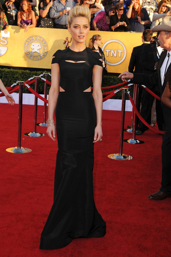 Amber Heard in Zac Posen