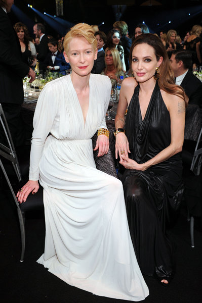 Tilda Swinton and Angelina Jolie