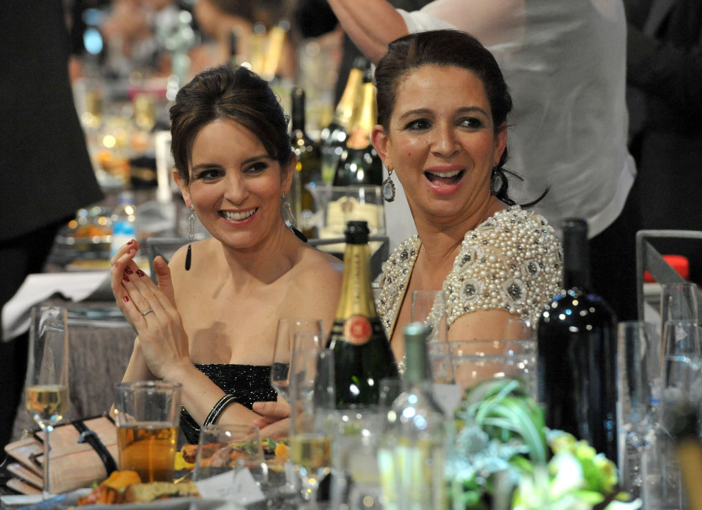 Tina Fey and Maya Rudolph sat together.
