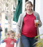Jennifer Garner smiled on a day out with Seraphina.