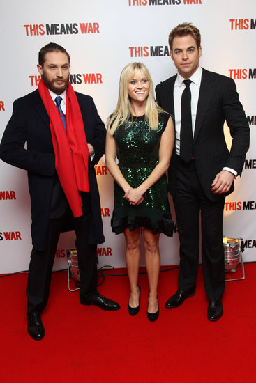 Reese wore a green dress to the UK premiere.