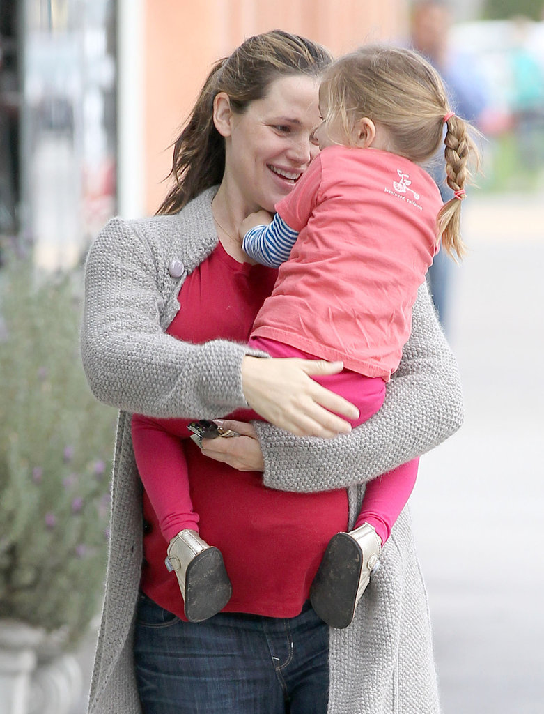 Jennifer Garner cuddled with Seraphina.