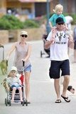 Naomi Watts and Liev Schreiber had a family day with Sasha and Samuel Schreiber.
