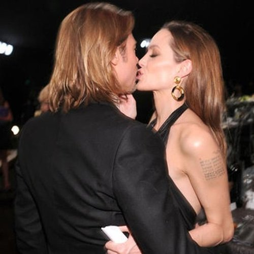 Angelina Jolie and Brad Pitt at the 2012 SAG Awards (Video)