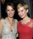Michelle Williams and Bérénice Bejo both wore lacy dresses to the 2012 Screen Actors Guild Awards afterparty.