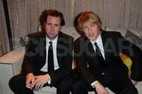 Owen Wilson chilled in the SAG Awards green room with a friend.