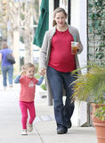Seraphina Affleck was happy to spend a day out with Jennifer Garner.