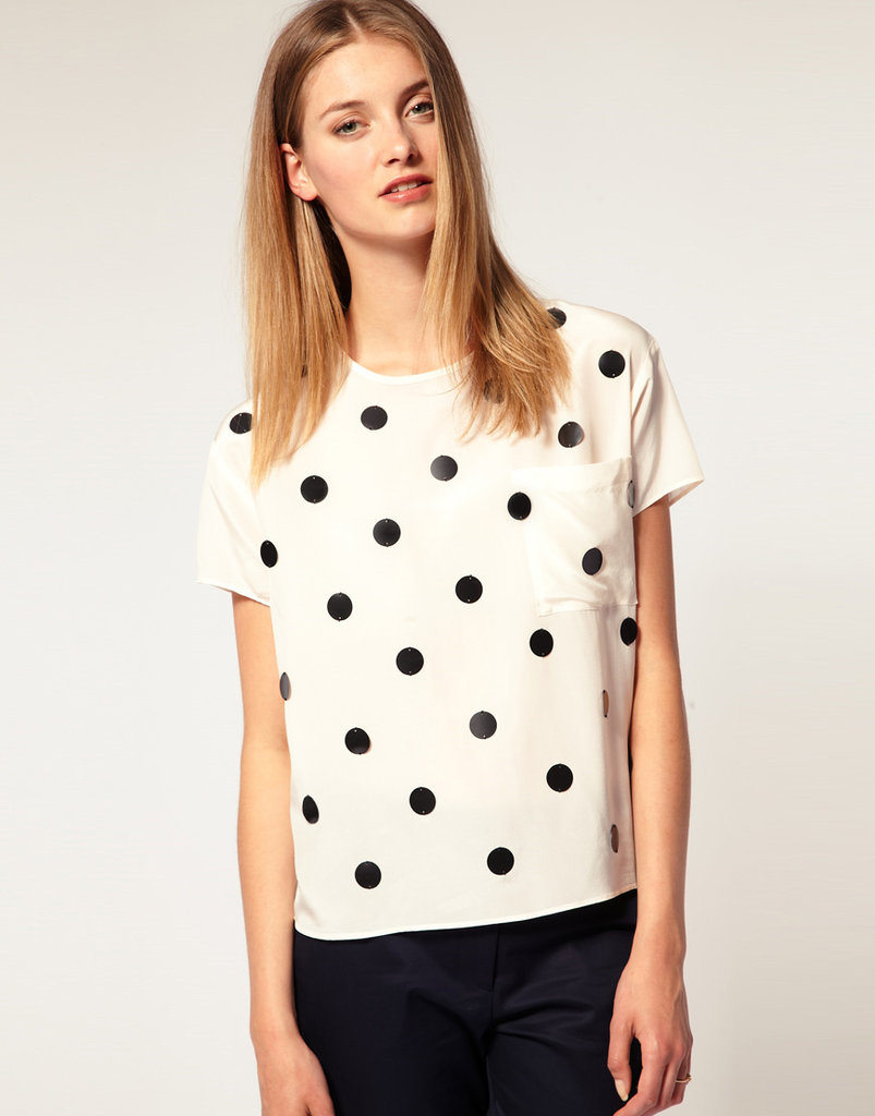 A playful way to dress up our jeans and minis — the dots on this are sweet and just dressy enough to style up a going-out look in a pinch. Sophie Hulme for Asos Matte Sequin T-Shirt ($76, originally $152)