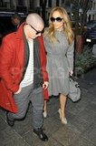 Jennifer Lopez held hands with Casper Smart in NYC.