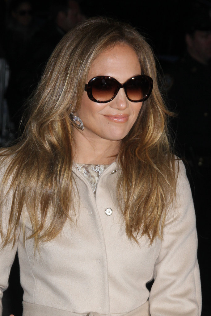 Jennifer Lopez put her sunglasses on.