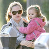 Pregnant Jennifer Garner With Seraphina Pictures in LA