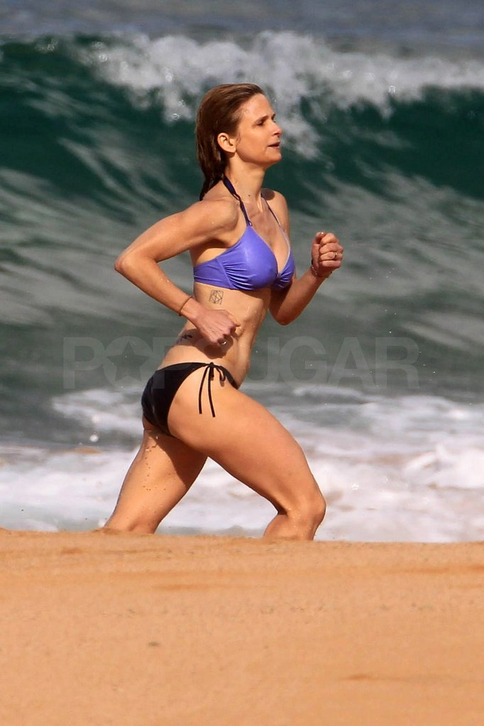 Kyra looked great running on the beach.