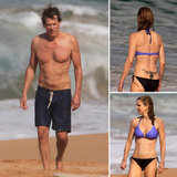Shirtless Kevin Bacon Cuts Loose With Tattooed Kyra