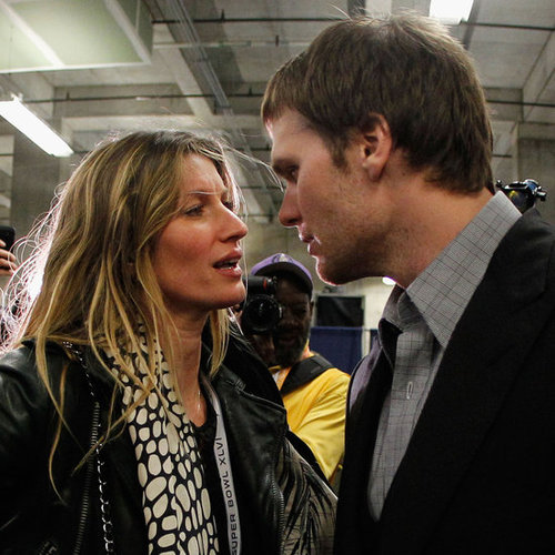 Tom Brady and Gisele Bundchen Pictures After 2012 Super Bowl New York Giants Win