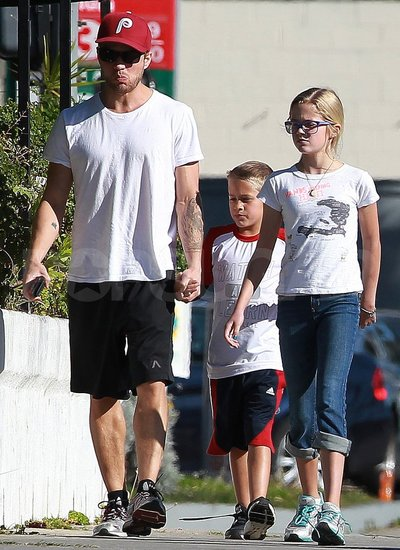 Ryan Phillippe hung out with his kids.