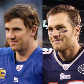 Tom Brady and Eli Manning Pictures