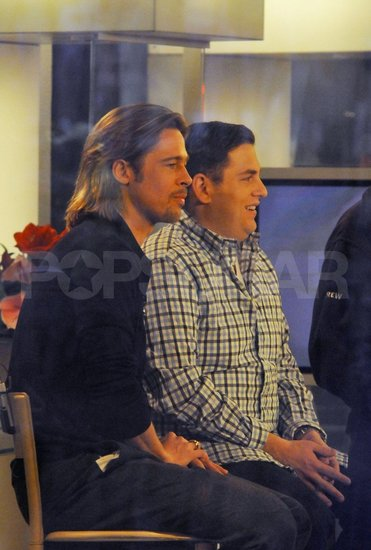 Brad Pitt and Jonah Hill were guests on The Today Show.