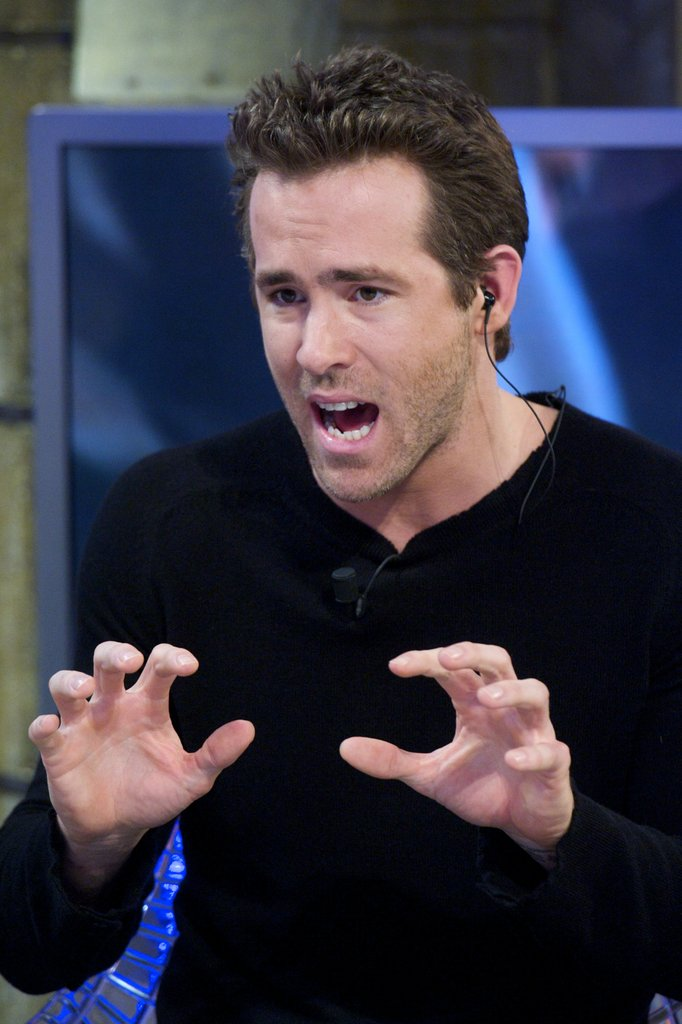 Ryan Reynolds was really animated describing an event.
