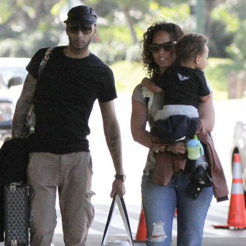Alicia Keys and Swizz Beatz in Hawaii Pictures