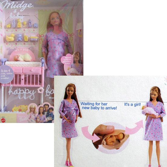 Barbie Happy Family Midge & Baby Doll Set ($125)