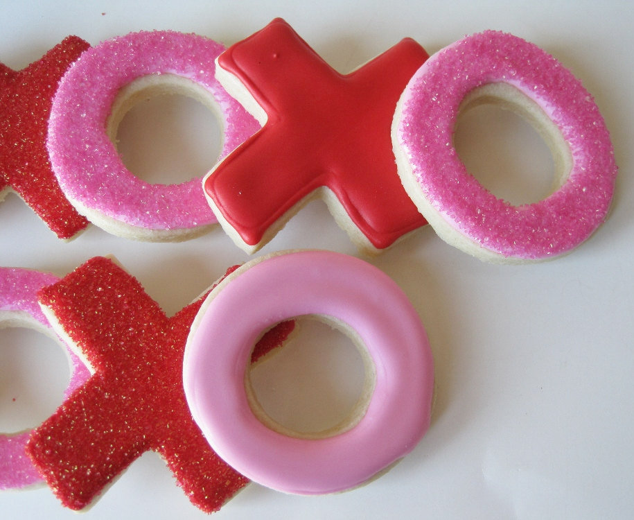 XOXO Valentine's Sugar cookies (12 For $21)