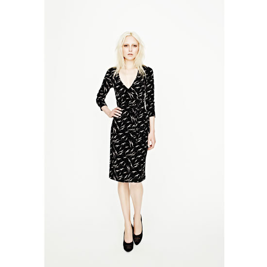 Dancing Birds Jersey Wrap Dress, $229