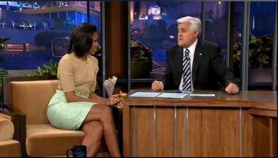 Michelle Obama and Jay Leno Bond Over White House Honey