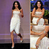 Vanessa Hudgens White Strapless Dress