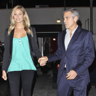 George Clooney Dinner With Stacy Keibler at Craig's Pictures