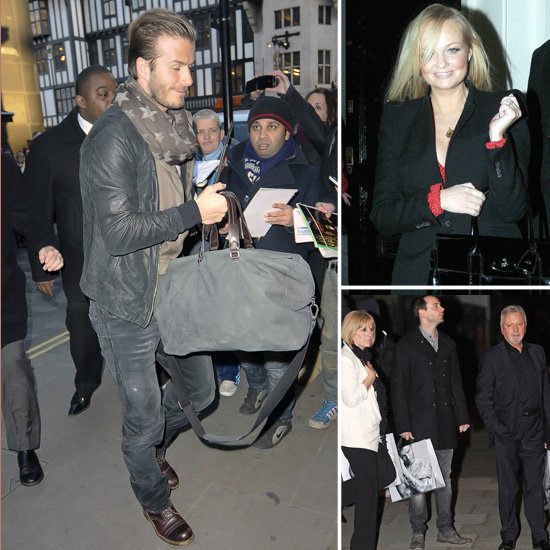 David Beckham Celebrates His H&M Line With Posh's Parents