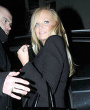 Emma Bunton smiled at London's The Arts Club.