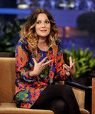 Drew Barrymore chatted at The Tonight Show.