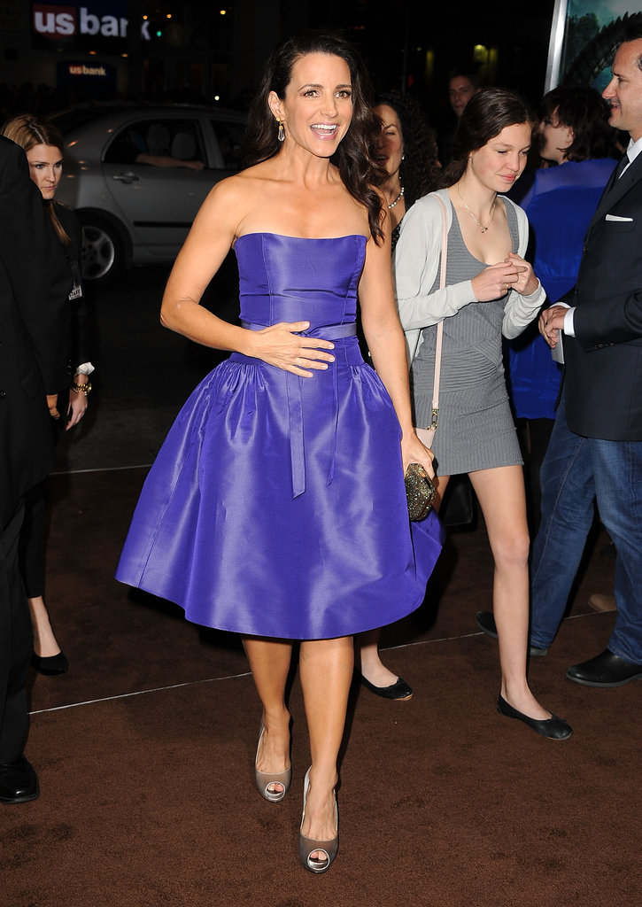 Kristin Davis rocked a purple Monique Lhuillier at the premiere of Journey 2: The Mysterious Island.