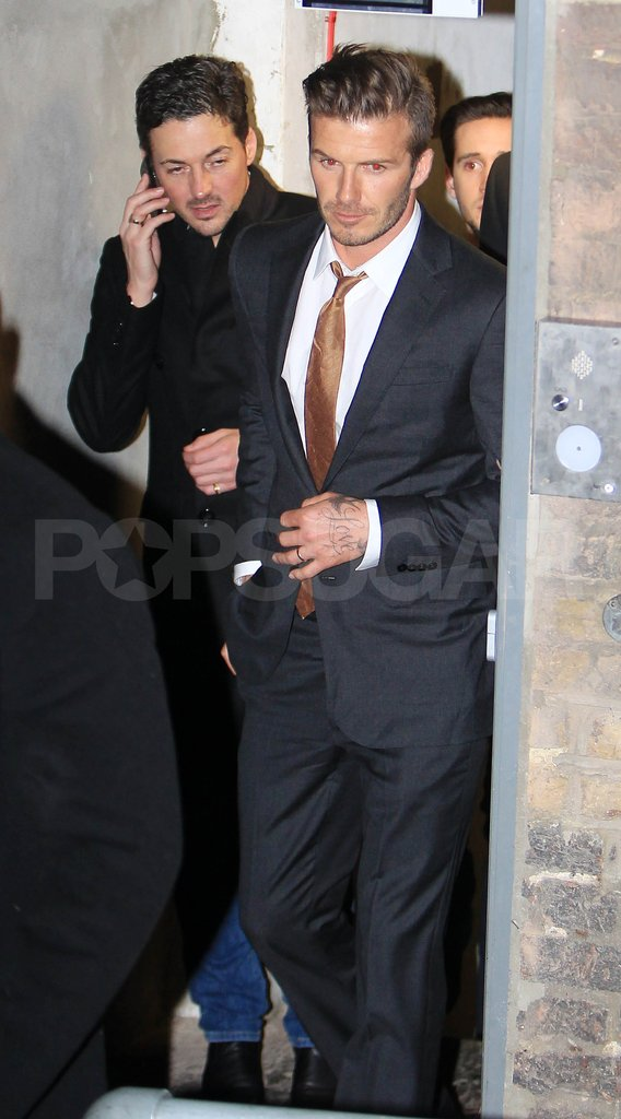 David Beckham left London's Arts Club.