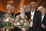 Scarlett Johansson and Morgan Freeman won Golden Camera awards.