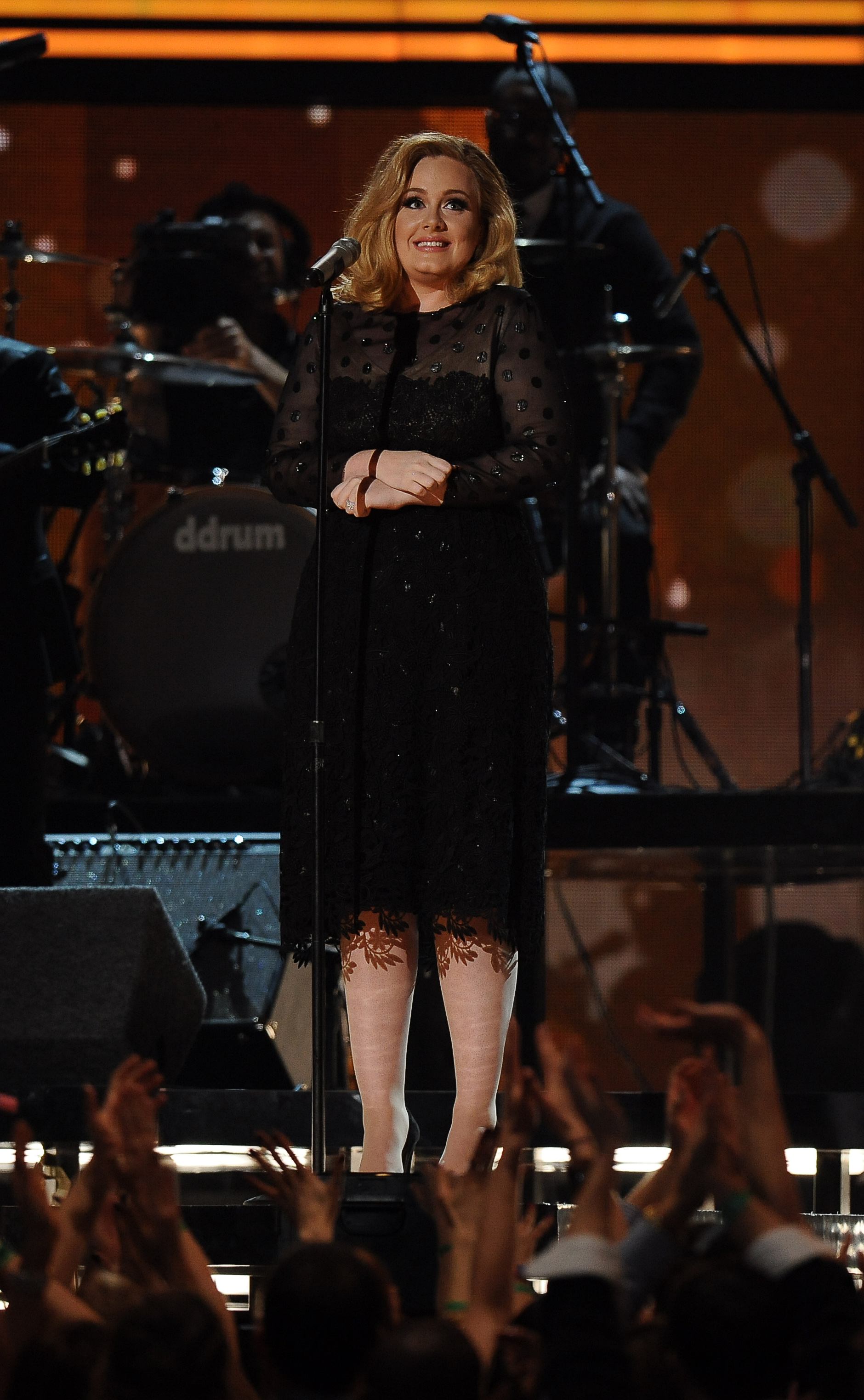 Adele took the stage mu