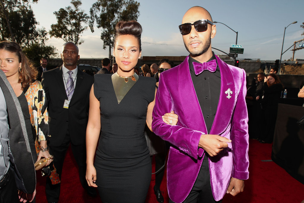 Alicia Keys and Swizz Beatz arrived to the Grammys in 2012.