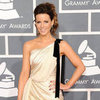 Kate Beckinsale Short White Dress Pictures at Grammys 2012