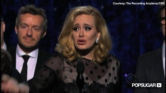 "Watch Adele's Teary Grammys Speech on ""Rubbish Relationship,"" Snot, and More!"