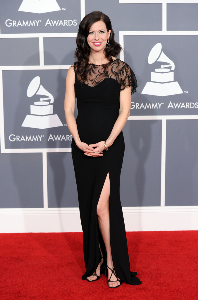 Joy hit the red carpet at the 2012 Grammys.