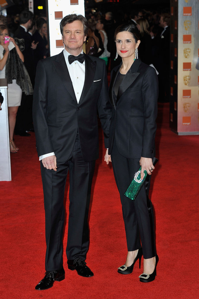 Colin Firth and his wife make a dashing duo.