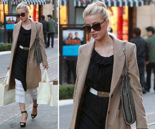 Amber Heard Camel Coat