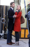 Chace Crawford and Ella Rae Peck on the Gossip Girl set.