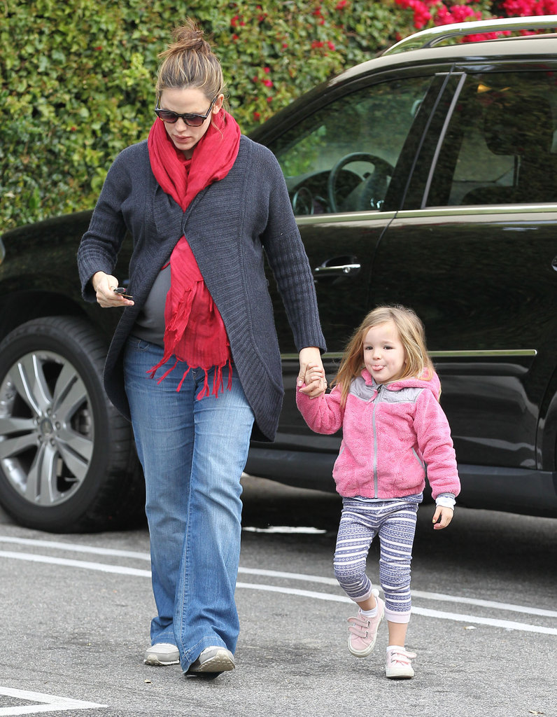 Jennifer Garner with Seraphina Affleck in LA.